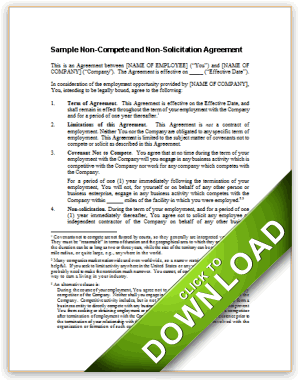 Sample Non-Compete and Non-Solicitation Agreement