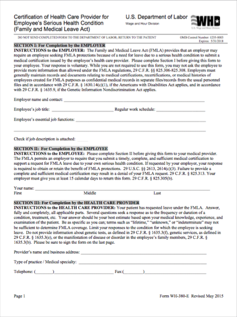 picture about Fmla Printable Forms called FMLA Notices