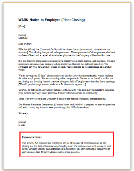 warn letter samples Happywinnerco