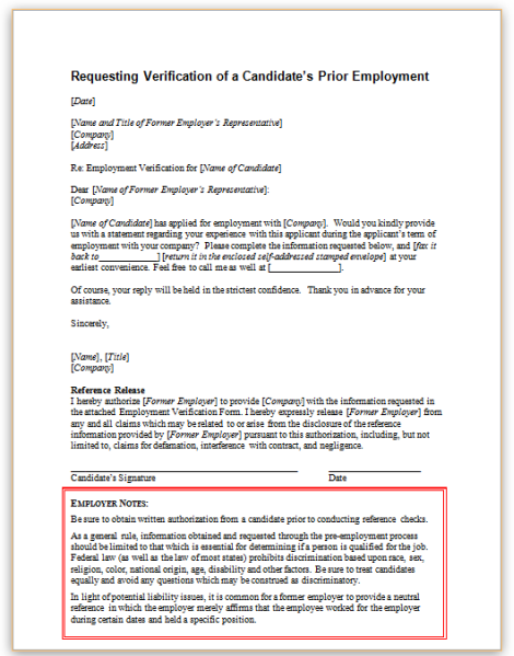 Letter To Former Employer from www.hr360.com